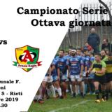 6° giornata: ASD Arieti R. Rieti 2014 - Arnold Rugby ASD